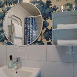 Badrum SMD spegel kakel tapet Sandbergwallpaper